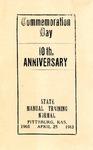 Commemoration Day Program, 1913