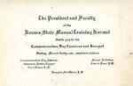 Commemoration Day Invitation, 1916