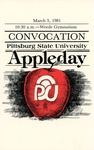Convocation Pittsburg State University Appleday, 1981