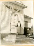 Photograph, Mae Mansfield at Caney Valley Superior School, 1935 by Betty Olmstead
