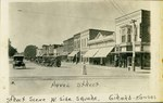 West side of the Square in Girard, Kansas by Ira Clemens