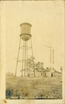 Water Tower in Scammon, Kansas by Ira Clemens