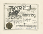 Certificate, 1977 December 8, The Actor's Fund of America by The Actor's Fund of America