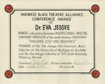 Certificate, 1979 October 19, Midwest Black Theatre Alliance by Midwest Black Theatre Alliance
