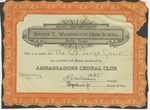 Certificate, 1935, Ambassadors Choral Club by Booker T. Washington High School