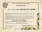 Certificate, 1974 June, Zeta Sigma Chapter of Sigma Gamma Rho by Sigma Gamma Rho Sorority, Inc.
