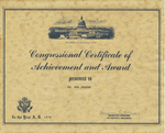 Certificate, 1978, Congressional Certificate by 5th District, Wisconsin