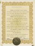 Certificate, 1975 April, Proclamation