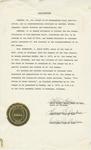 Certificate, 1975, Proclamation by Lelia Foley, Mayor of Taft Oklahoma by Lelia Foley