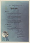 Certificate, 1974 October 6, City of Philadelphia by City of Philadelphia