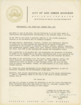 Certificate, 1974 January 19, Proclamation from the City of Ann Arbor by City of Ann Arbor