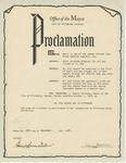 Certificate, 1978 September 26, Office of the Mayor, Pittsburg, Kansas by Sherry Strecker