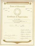 Certificate, 1982 August 20, Town of Greenville by Town of Greenville