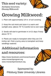 2016 Earth Day - Plant Milkweed (back)