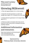 Earth Day 2016 Plant Milkweed (back)