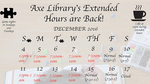 2016 Fall Finals & Dead Week Hours by Leonard H. Axe Library