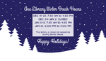 2016 Fall Library Winter Hours