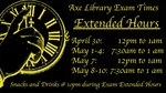 2017 Spring Dead Week & Finals Hours by Leonard H. Axe Library