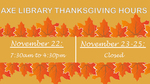 2017 Thanksgiving Break Hours