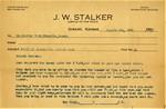 Stalker, J. W., Collection, 1935-1949