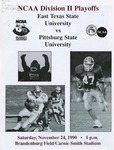 East Texas State vs. Pittsburg State University by Pittsburg State University