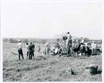 "F08_E07_02 ""The Learning Tree"" crew setup for Big Mabel and Newt's scene on location in Bourbon and Linn counties, Kansas by Unknown"