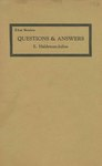 Questions and Answers 21st Series by E. Haldeman-Julius