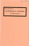 Questions and Answers by E. Haldeman-Julius