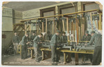 Wood Work Department, State Manual Training School, Pittsburg, Kansas by The Souvenir Post Card Company