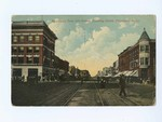 1912, Broadway from 4th street, Looking North, Pittsburg, Kansas.