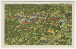 Air View of Pittsburg, Kansas by Curt Teich & Company