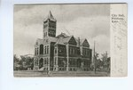 1907, City Hall, Pittsburg, Kansas - Front by Souvenir Post Card Co.,