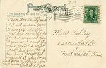 1907, City Hall, Pittsburg, Kansas- Back by Souvenir Post Card Co.,