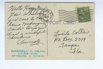 "1948, Municipal Auditorium, Pittsburg, Kansas - Back by American Art"""" Post Card Co."