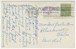 Russ Hall, Kansas State Teachers College, Pittsburg, Kansas, - Back by Curt Teich & Company