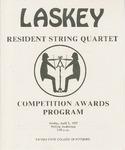 Laskey Resident String Quartet, Competition Awards Program