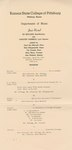 Ed Kellogg, Bass-Baritone and Dorothy Parmele, Lyric Soprano