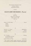 Alice Ann Dechario, Piano