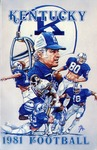005 University of Kentucky-Lexington Football 1981 program by Ted Watts