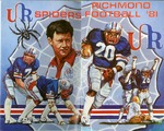 006 University of Richmond Football 1981 program by Ted Watts