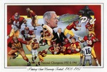 013 Pittsburg State University Football NAIA Champs 1957 & 1961 postcard by Ted Watts