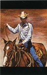 022 Calf Roper_Western Art by Ted Watts