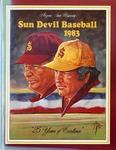 028 Arizona State University Baseball 1983 program by Ted Watts