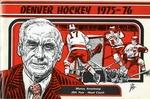 030 University of Denver Hockey 1975-76 program by Ted Watts