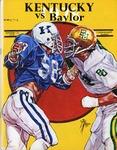 033 University of Kentucky Football 1978 program by Ted Watts