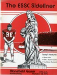 034 East Stroudsburg State College Sideliner Football 1975 program by Ted Watts