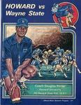 040 Howard University vs. Wayne State University Football 1976 program by Ted Watts