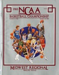 042 NCAA Midwest Regional Basketball 1985 program by Ted Watts