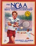 046 NCAA Tennis Championships-GA 1985 program by Ted Watts