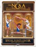 049 NCAA Women's Gymnastics Championships-Utah 1985 program by Ted Watts